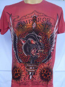 Emperor Eternity Black Tiger  Tattoo T shirt Red  M