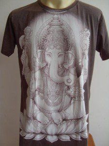Ganesha Ganesh Men T Shirt OM Hindu India L #SW6