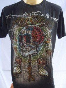 Emperor Eternity Skull Wand Tattoo T-shirt Black M  L