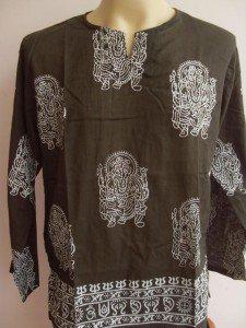 Ganesha Ganesh  Men's T Shirt OM Hindu India Green L#1 _TCL