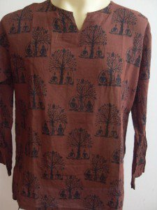 Yogi Yoga Yogin Men's T Shirt OM Hindu India  Brown L