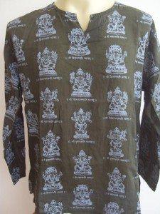 Ganesha Ganesh  Men's T Shirt OM Hindu India Green L 18065 8206