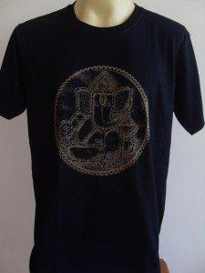 Ganesha Ganesh  Men T Shirt OM Hindu India Black L