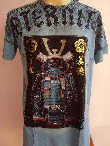 Emperor Eternity Samurai Suit Tattoo T-shirt Blue L #1