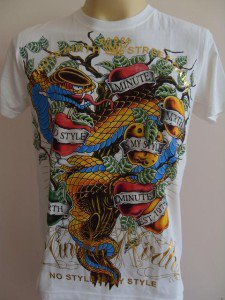 Minute Mirth Apples for Adam Tattoo  T-shirt  White M