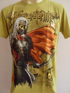 Emperor Eternity Mask Warrior Men T-shirt Yellow L