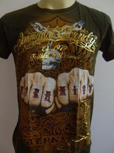Emperor Eternity Double FIST Tattoo T-shirt green S