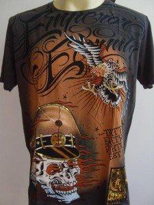 Emperor Eternity Skull Soilder Tattoo T-shirt Gray S