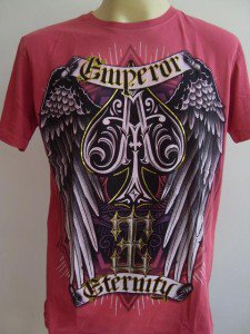 Emperor Eternity Winged Spade Tattoo T-shirt Cerise L