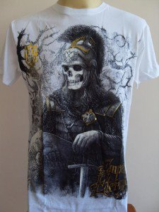 Emperor Eternity Skull General Tattoo T-shirt White L