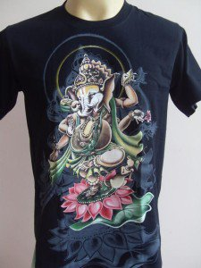 Ganesha Ganesh Men's T Shirt OM Hindu India Black M