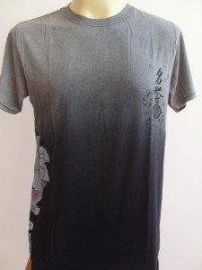 Emperor Eternity Lotus KOI  Tattoo Men T-shirt Black L
