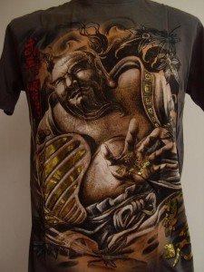 Emperor Eternity Hotei Japanese Tattoo T shirt gray L