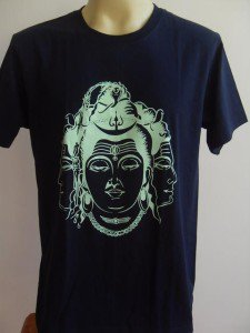 Shiva God Hindu Deity Hinduism India Navy Blue L