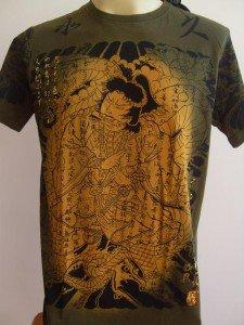 Emperor Eternity Samurai Fighting Python Tattoo Green L