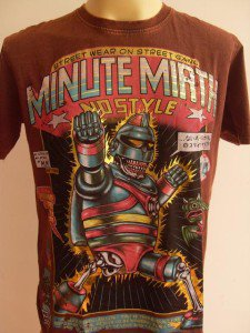 Minute Mirth Skull Undercover Superhero Tattoo Brown L