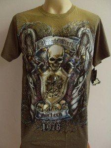 Minute Mirth Skull Armor Tattoo Men T-shirt  L