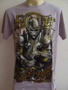 Emperor Eternity Skull Knight Tattoo T-shirt pink L