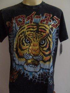 Minute Mirth Mask of Tiger Tattoo Men T-shirt Black L