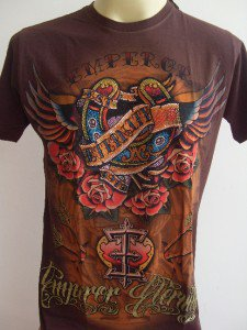 Emperor Eternity Winged Horseshoe T-shirt Brown M L