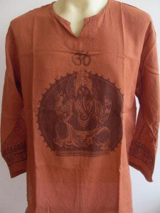 Ganesh Ganesha Om Men's T Shirt Hindu India orange XL #Orga