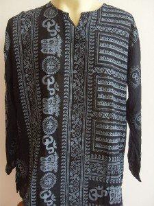 Ganesh Ganesha Om Men's T Shirt Hindu India Black XL #BLFo 18073 3437