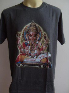 Ganesha Ganesh Men T Shirt OM Hindu India Blue L #SiGr