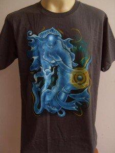 Ganesha Ganesh Men T Shirt OM Hindu India gray L #TRGr