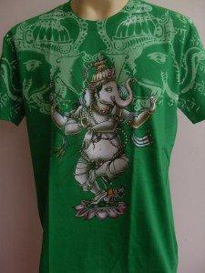 Ganesha Ganesh Men T Shirt OM Hindu Hinduism green M  L