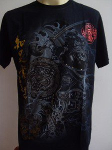 Emperor Eternity Tiger shield Samurai Tattoo Black M