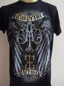 Emperor Eternity Winged Spade Tattoo T-shirt black L