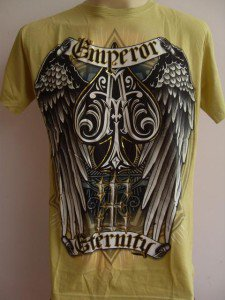 Emperor Eternity Winged Spade Tattoo T-shirt yellow L