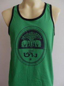 Thai Chang Beer Men T-shirt Tank Top green L