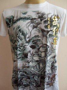Emperor Eternity Samurai fighting Great Dragon  white S