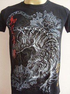 Emperor Eternity Peony Tiger Tattoo T-shirt black S