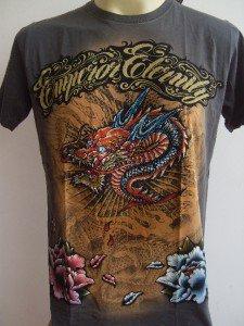 Emperor Eternity Glittering Dragon tattoo shirt Gray M