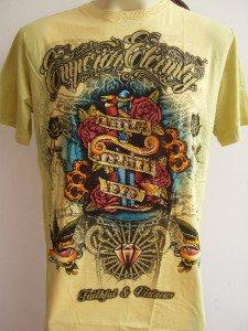 Emperor Eternity Diamond Dagger Tattoo T shirt Yellow M 18074 2834