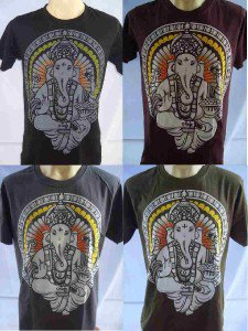Ganesha Ganesh Men T Shirt OM Hindu India M L ,4 colour