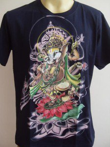 Ganesha Ganesh Men T Shirt OM Hindu India Navy blue L 17063 2477
