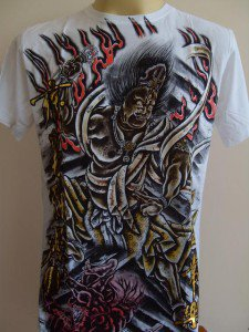 Emperor Eternity Oni God Tattoo Men's T-shirt White L