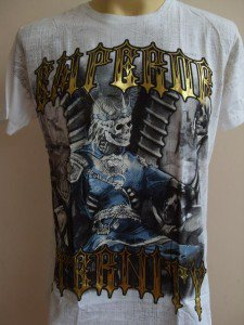 Emperor Eternity Skull Prince Tattoo T-shirt White M