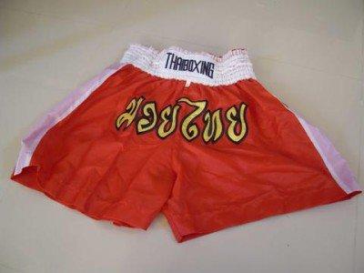 Muay Thai Kick Boxing shorts Nylon  Red size L #LNRWB