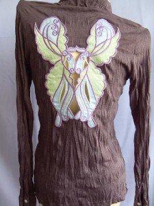 Butterfly Sexy Woman's  T-Shirt Purple M