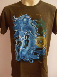 Ganesha Ganesh Men's T Shirt OM Hindu India Green M  #TRgreen