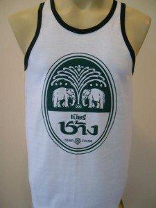 Thai Chang Beer Men T-shirt Tank Top White M
