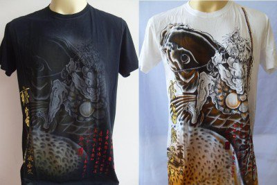Emperor Eternity  KOI CARP Tattoo Men T-shirt M L #1