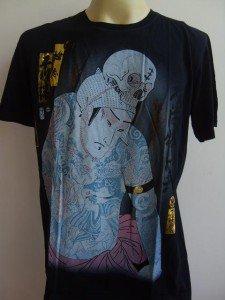 Emperor Eternity Yakuza Men Tattoo T shirt Black L
