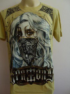 Emperor Eternity handkerchief mask Lady Tattoo Yellow L
