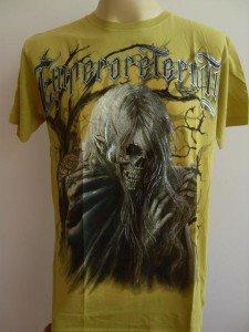 Emperor Eternity Handsome Skull Tattoo Men's T-shirt Yellow L