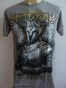 Emperor Eternity Winged Warrior Tattoo T shirt  Light Brown L